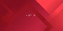 Abstract Red Business Modern Background Gradient Color. Red Maroon And Bright Light Gradient With Stylish Line And Square Decoration Suit For Presentation Design.