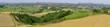 Toskana Landschaft im Frühling, Toskana, Italien, Europa, Panorama