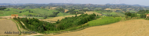 Toskana Landschaft im Frühling, Toskana, Italien, Europa, Panorama Fototapet