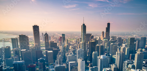 Foto Chicago city skyline, USA