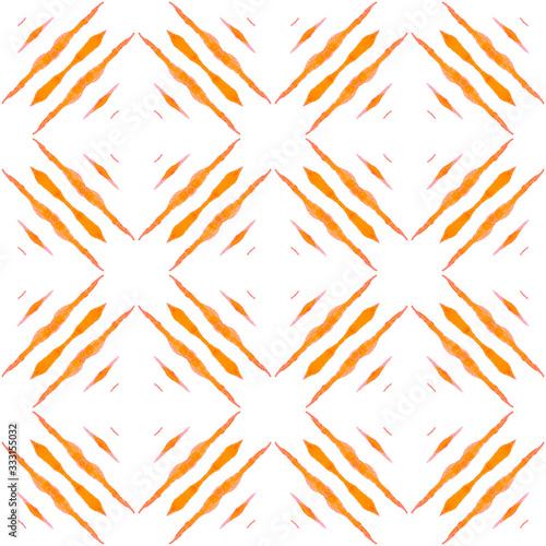 Photo Oriental arabesque hand drawn border. Orange