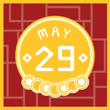 May 29, Calendar Icon Illustration Isolated Sign Symbol, Sale Promotion.