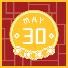 May 30, Calendar Icon Illustration Isolated Sign Symbol, Sale Promotion.