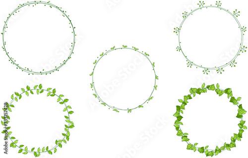 Foto 手描きの飾り罫、植物