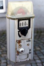 Vintage Parking Meter On A Cob...