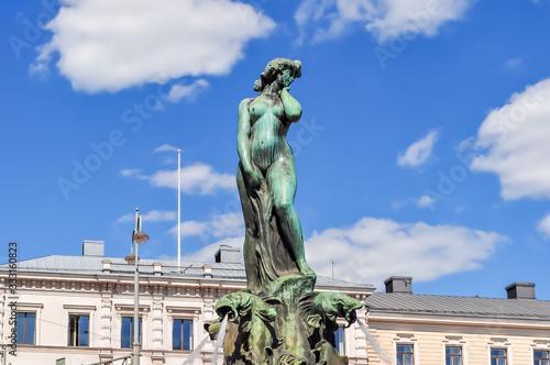 Photo Havis Amanda fountain on Market square, Helsinki, Finland
