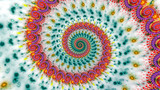 Multicolored psychedelic spiral abstract background