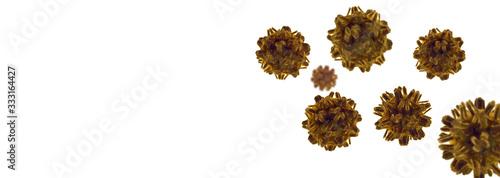 Fotomural coronavirus outbreak, health threatening virus 3d.