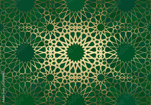 Abstract background with islamic ornament, arabic geometric texture Fototapeta