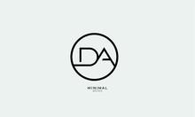 Alphabet Letter Icon Logo DA