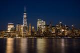 Fototapeta Nowy Jork - nocna panorama nowy jork