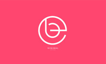 Alphabet Letter Icon Logo EB Or BE