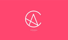 Alphabet Letter Icon Logo CA O...