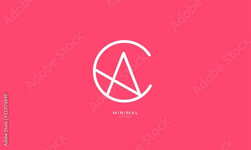 Photo Alphabet letter icon logo CA or AC