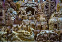 Wood Carving Buddha