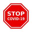 znak stop covid-19