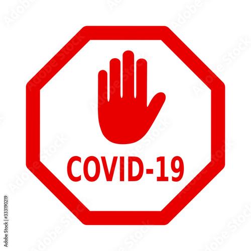 Fototapeta znak stop covid-19 obraz