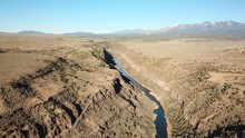 Taos Rio Grande From The Sky