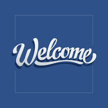 Welcome Letters Banner With Fl...