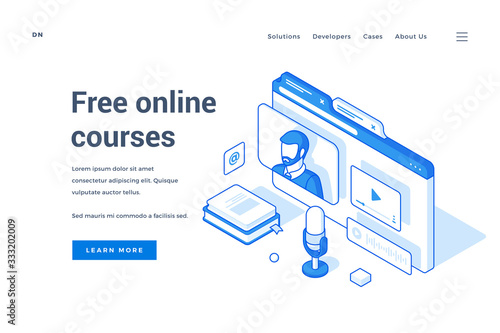 Internet site offering online courses for free Canvas Print