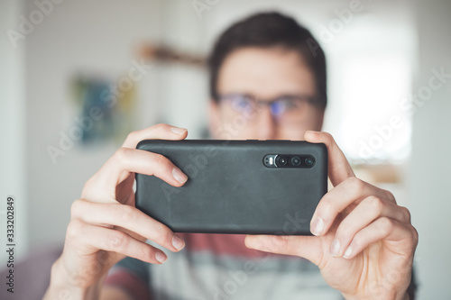 Social media content production with the smartphone Fototapet