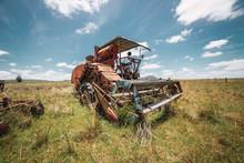 Abandoned Combine Harvester I...