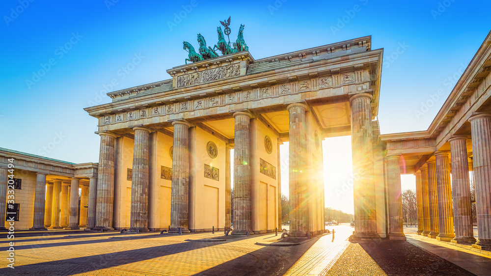 Fototapeta the famous brandenburger tor in berlin, germany