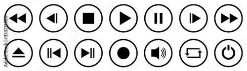 Media Player Buttons set Fototapeta