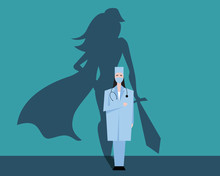 Super Woman Doctor Or Nurse. H...