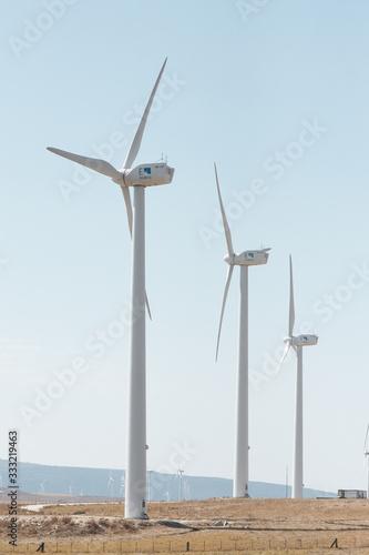 Photo Parque eolico con aerogeneradores