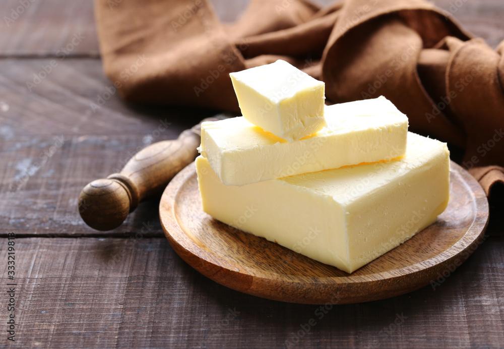 Fototapeta natural organic butter for breakfast
