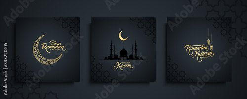 Photo Ramadan Kareem greeting cards set