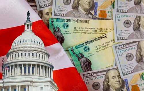 Senate and Representatives government Global pandemic Covid 19 lockdown Coronavirus financial relief package senate stimulus individual checks