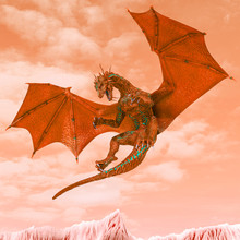Red Hell Dragon Ready To Attac...