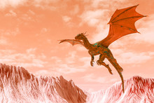 Red Hell Dragon Floating And L...