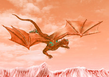 Red Hell Dragon Is Diving On H...