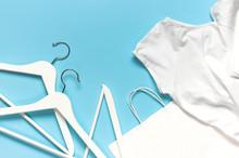 White Wooden Hangers, White Sh...