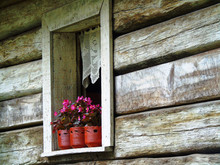 House Window In The Countryside