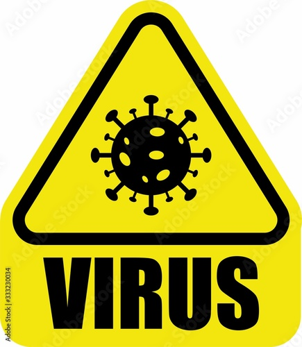 virus danger caution beware coronavirus stay home Canvas Print