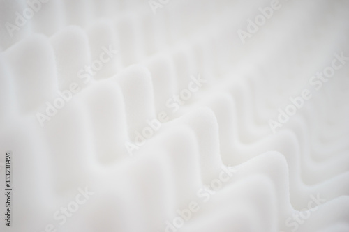 Obraz na plátne White gradient abstract background with many waves at different angles