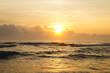 Tortuguero beach in a beautiful sunrise
