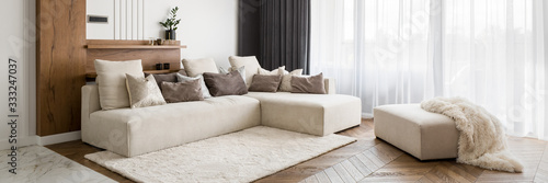 Obraz Elegant and comfortable living room - fototapety do salonu