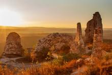 Landscape In The Setting Sun W...