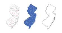 New Jersey Counties Map With N...