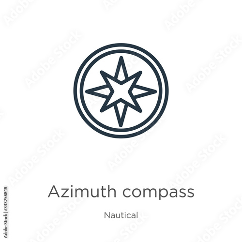 Photo Azimuth compass icon