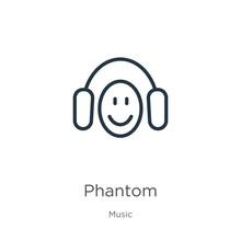 Phantom Icon. Thin Linear Phan...