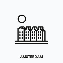 Amsterdam Icon Vector. Amsterd...