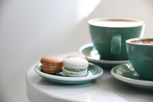 Macarons With Latte