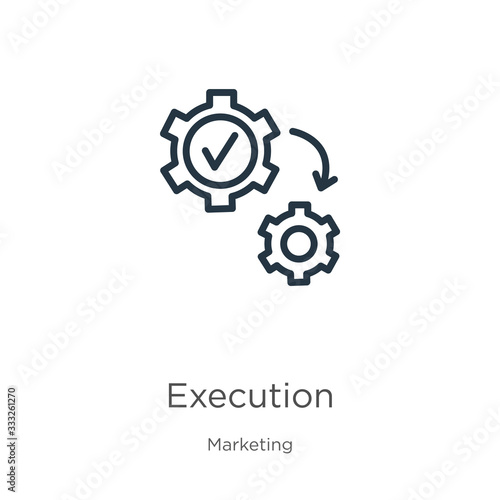 Execution icon Wallpaper Mural