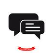bubble speech vector icon in trendy flat design